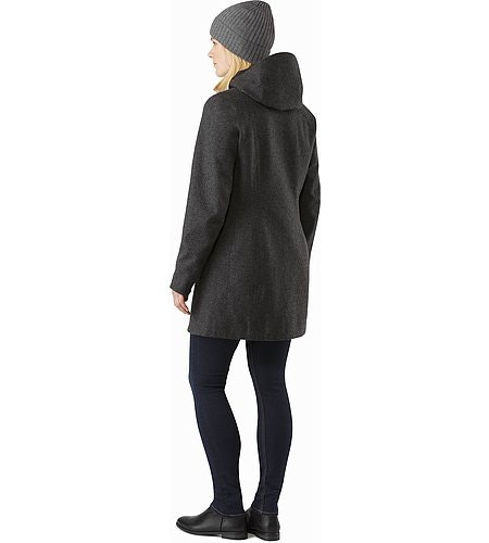 Embra Coat Women's Black Heather Back View