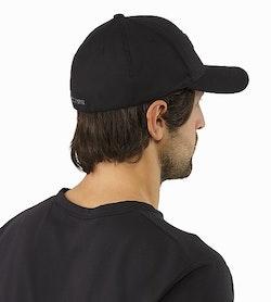 9932e4ddf82 Embroidered Bird Cap Black Rückansicht