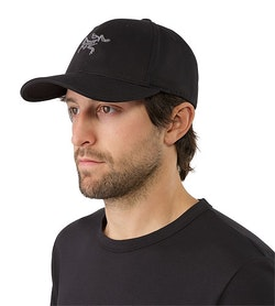 220c3a4f8f3 Embroidered Bird Cap Black Vorderansicht