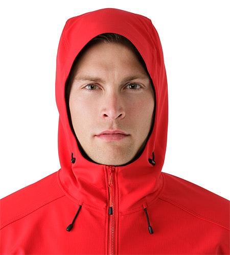 Epsilon LT Hoody Diablo Red Hood Front View