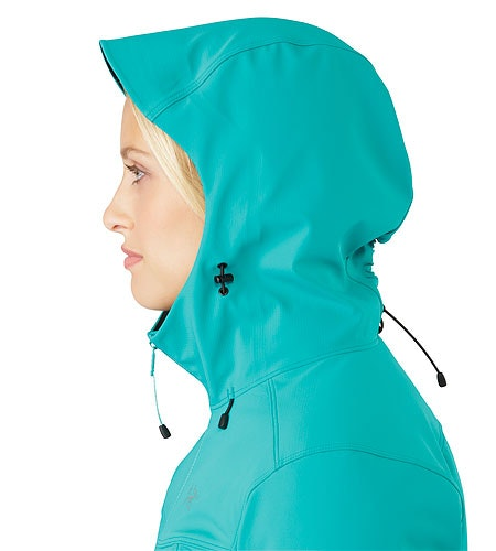 Epsilon LT Hoody Women's Castaway Hood Side View