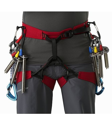 FL-365 Harness Red Beach Flare Vorderansicht Detail 2