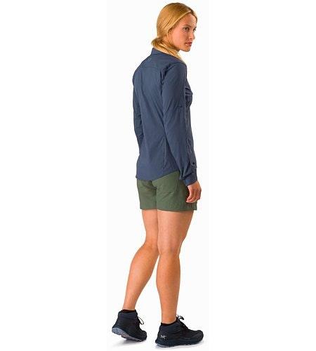 Fernie Shirt LS Women's Black Sapphire Back View