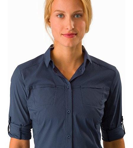 Fernie Shirt LS Women's Black Sapphire Collar