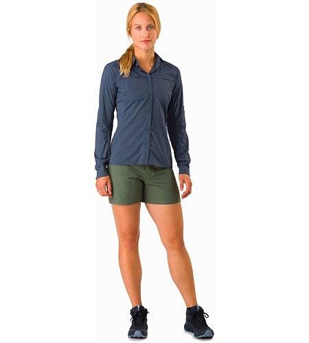 Fernie Shirt LS Women's Black Sapphire Front View
