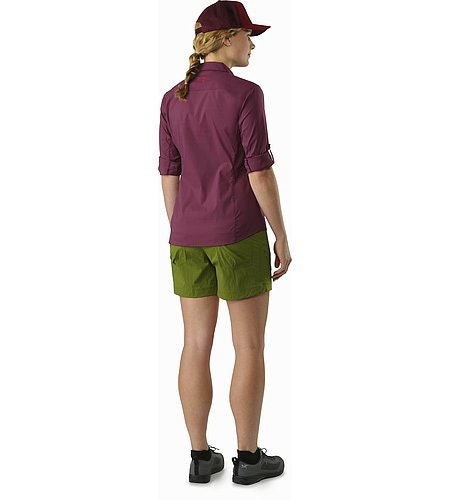 Fernie Shirt LS Women's Purple Reign Back View