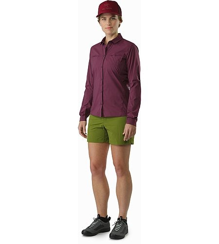 Fernie Shirt LS Women's Purple Reign Front View