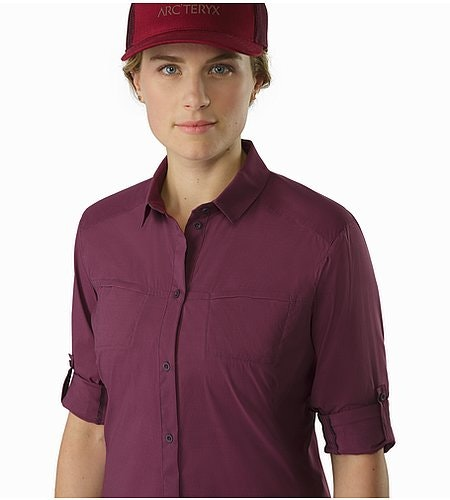 Fernie Shirt LS Women's Purple Reign Rolled Up Sleeves