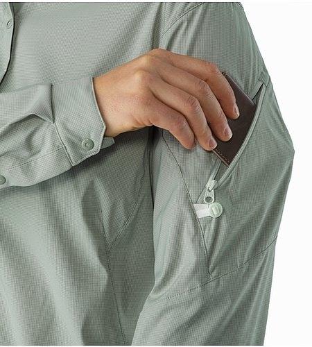 Fernie Shirt LS Women's Sage Sleeve Pocket