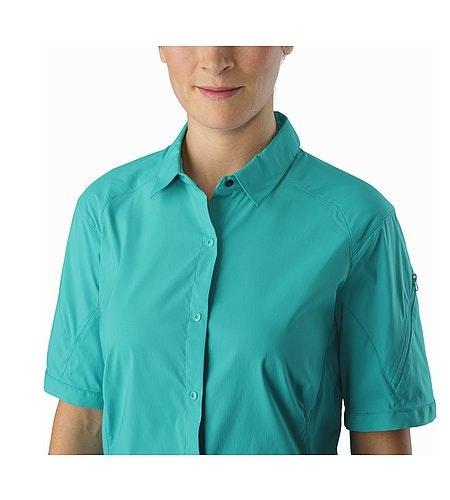 Fernie Shirt SS Women's Castaway Offener Kragen