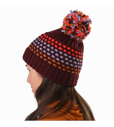 Fernie Toque Women's Crimson Back View