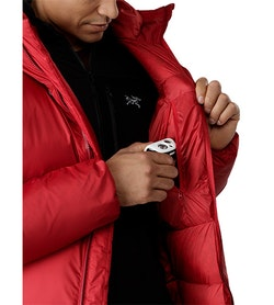 Firebee AR Parka Red Beach Internal Security Pocket