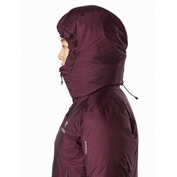 Firebee AR Parka Women's Rhapsody Hood Side View