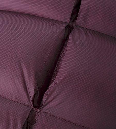 Firebee AR Parka Women's Violet Wine Baffle Detail Open