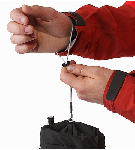 Fission Glove Black Removable Wrist Leash