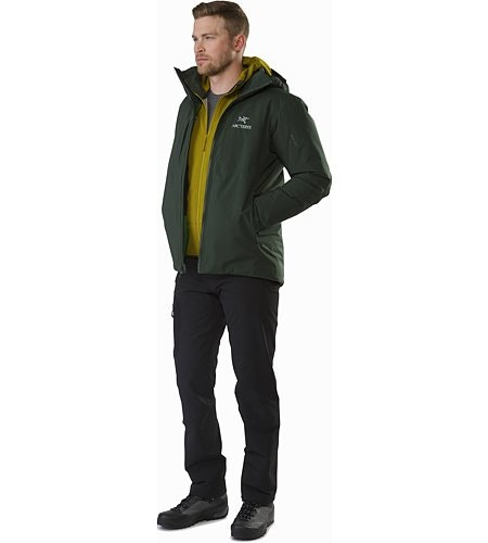 Fission SV Jacket Conifer Open View