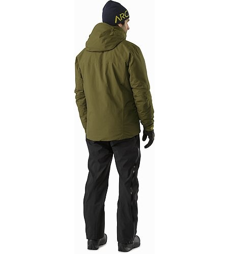 Fission SV Jacket Dark Moss Back View