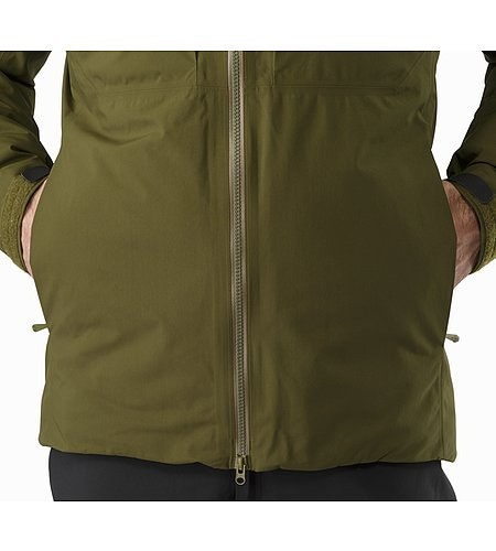 Fission SV Jacket Dark Moss Hand Pocket