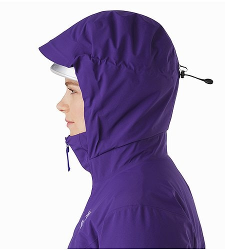Fission SV Jacket Women's Azalea Helmet Compatible Hood Side View