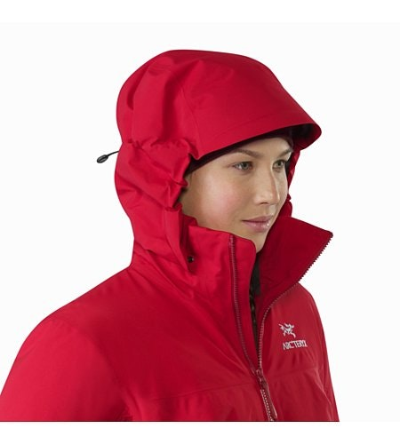 Fission SV Jacket Women's Pomegranate Hood Up