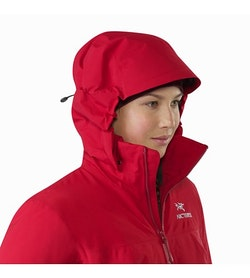 Fission SV Jacket Women's Pomegranate Hood Up
