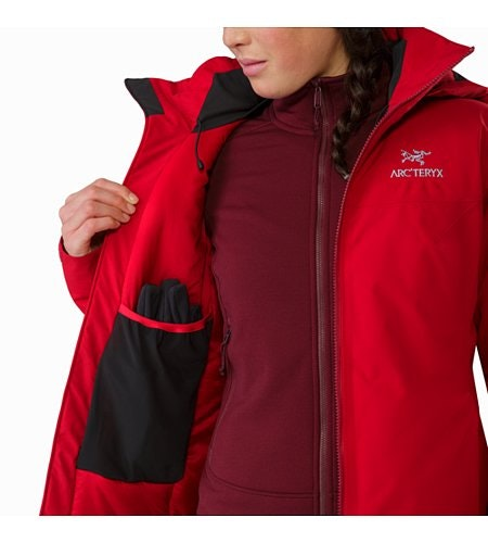 Fission SV Jacket Women's Pomegranate Internal Dump Pocket