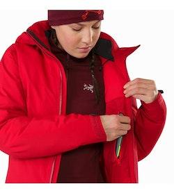 Fission SV Jacket Women's Pomegranate Internal Security Pocket