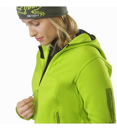 Fortrez Hoody Women's Dark Titanite Collar Zip