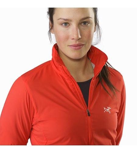 Gaea Jacket Damen Hard Coral Kragen