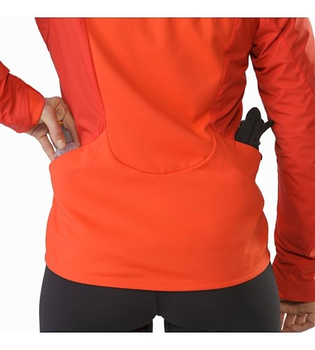 Gaea Jacket Women's Hard Coral External Pockets Back