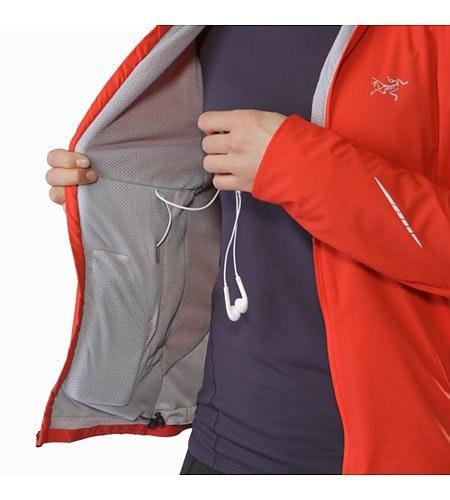 Gaea Jacket Damen Hard Coral Sicherheitstasche und Kabeldurchlass