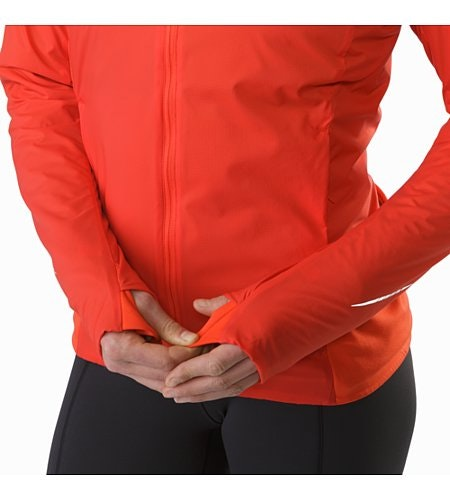 Gaea Jacket Women's Hard Coral Thumb Loops