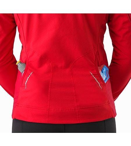 Gaea Jacket Women's Radicchio External Back Pockets