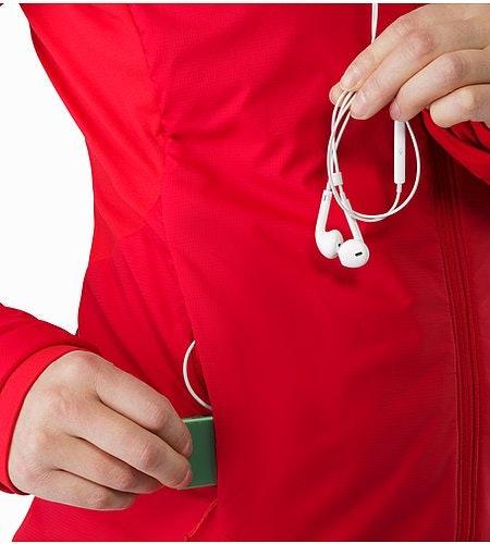 Gaea Jacket Women's Radicchio Security Pocket And Media Port