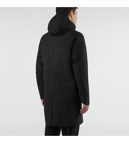 Galvanic Down Coat Black Back View