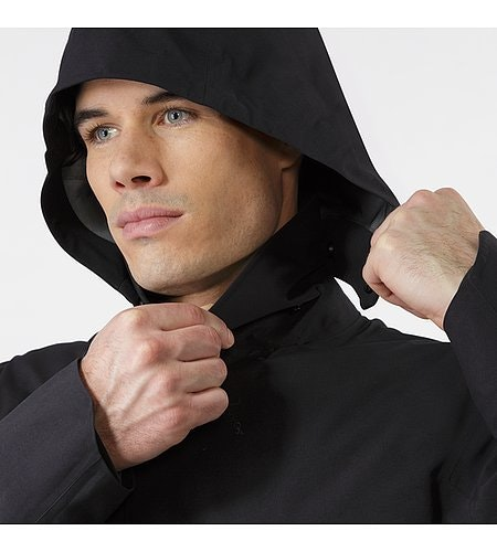 Galvanic Down Coat Black Hood Adjuster