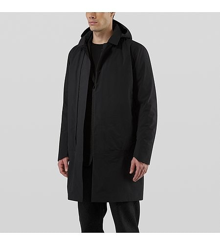 Galvanic Down Coat Black Open View
