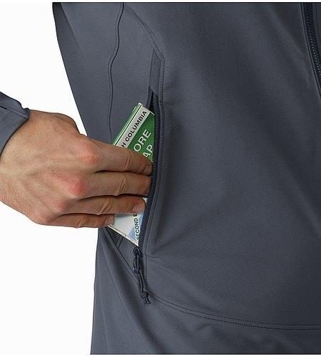 Gamma LT Hoody Heron Hand Pocket