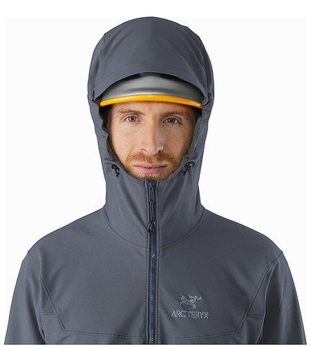 Gamma LT Hoody Heron Helmet Compatible Hood Front View