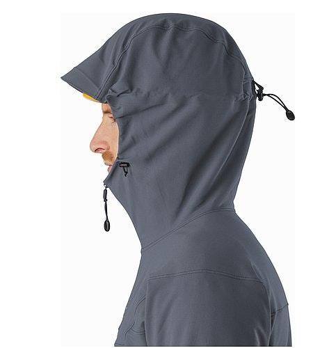 Gamma LT Hoody Heron Helmet Compatible Hood Side View