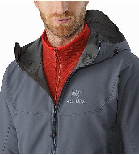 Gamma LT Hoody Heron Open Collar
