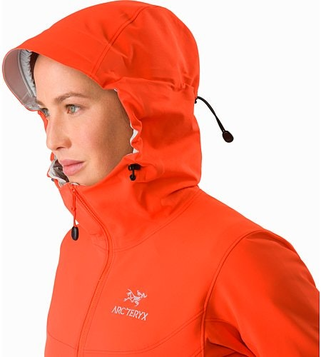 Gamma LT Hoody Women's Aurora Hood Side View