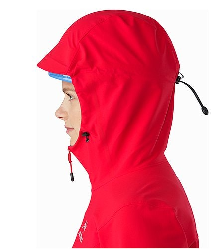 Gamma LT Hoody Women's Rad Helmet Compatible Hood Side View