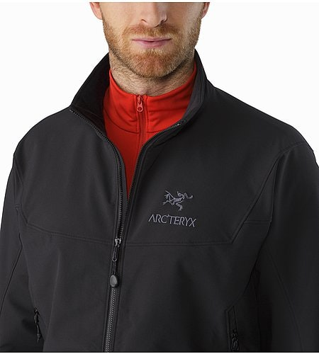 Gamma LT Jacket Black Open Collar