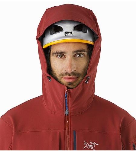 Gamma MX Hoody Pompeii Helmet Compatible Hood Front View