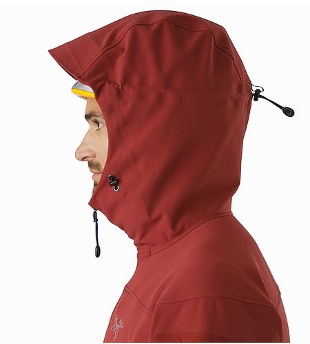 Gamma MX Hoody Pompeii Helmet Compatible Hood Side View
