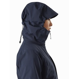Gamma MX Hoody Women's Cobalt Moon Hood Side View
