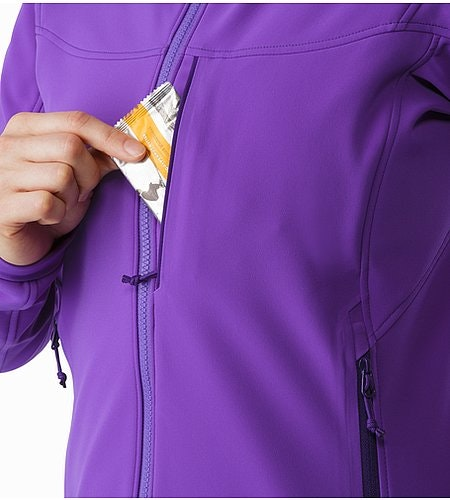 Gamma MX Hoody Women's Dahlia Chest Pocket 2