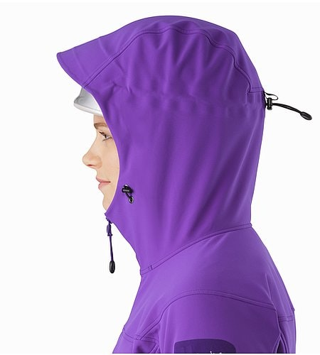Gamma MX Hoody Women's Dahlia Helmet Compatible Hood Side View 2