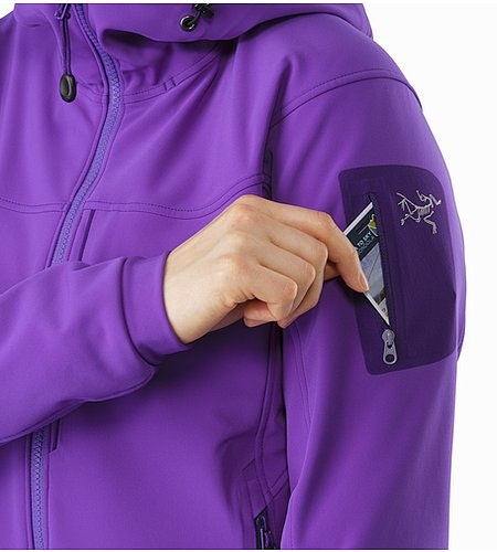 Gamma MX Hoody Women's Dahlia Sleeve Pocket 2